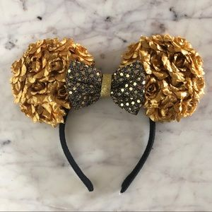 Disney Gold Flower Minnie Ears Headband